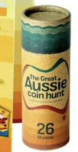 2019 THE GREAT AUSSIE COIN HUNT A - Z EMPTY COLLECTOR TUBE HOLDS 26 $1 COINS