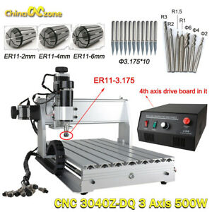 3040Z-DQ CNC Router 3 Axis Engraving Milling Machine 500W Carving MACH3 USB