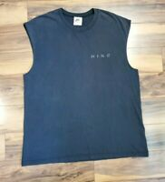 Vintage 80s Nike Mens  Large Spell Out Tank Top T-Shirt Black White USA Tag