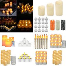 12pcs LED Simulation Candle Tea Light Electric Concave Flameless XMAS Lamp Decor