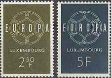Timbres Europa Luxembourg 567/8 ** lot 23350