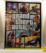 Grand Theft Auto V Five 5 Promotional Double Sided Poster New GTA Rockstar Games