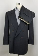 Hugo Boss Mens Zeus / Akropolis 42L 44 (36 x 31) Double Breasted Gray Suit G12