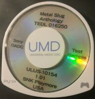 Prototype Build Test Sample Sony PSP UMD Metal Slug Anthology Ver: 1.01 (SNK)