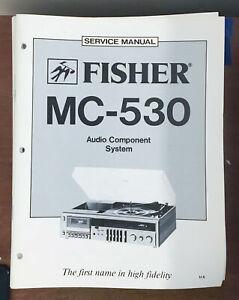 Fisher MC-530 Stereo System Service Manual *Original*