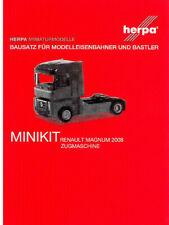 HERPA MiniKit 1:87/H0 LKW Renault Magnum 2008 Zugmaschine weiß Bausatz #013642