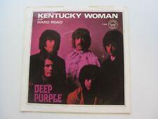 DEEP PURPLE ORIGINAL  1968 USA  45 KENTUCKY WOMAN  NR MINT PICTURE  SLEEVE