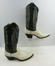 Ladies Justin Lizard Two Tone Western Cowgirl Boots Size : 6.5 B