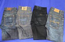 Lot of 4x Men's NUDIE Denim Jeans 3x Grim Tim 1x Slim Jim Size 28 X 32 (1x 34)