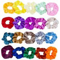 10 20 40 Pack Velvet Hair Scrunchies Elastic Sport Dance Ponytail Scrunchy Rope