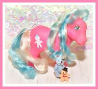 ❤️My Little Pony MLP G1 VTG MOLASSES Pink Blue Candy Cane Gingerbread❤️