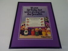 1987 Fisher Price Little People 11x14 Framed ORIGINAL Vintage Advertisement