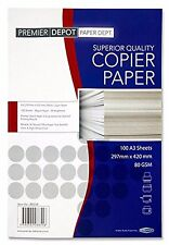 100 X A3 WHITE PRINTER / COPIER PAPER 80gsm GRAPHICS/ART/DRAWING/PRINT