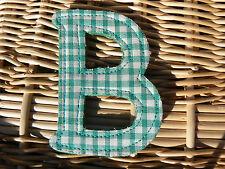 NUOVO Letterina B in stoffa vintage