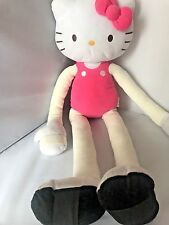 """Hello Kitty Large Pink Dress and Bow Doll Stuffed Animal Toy Anime Cotton 27"""""""