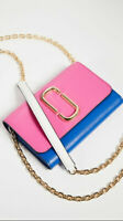 NWT Marc Jacobs Snapshot Chain Wallet Vivid Pink Multi