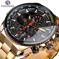 FORSINING Luxury Men's Luminous Automatic Mechanical Calendar Wrist Watch Gifts