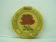 Pin back badge WW1 Wattle Day League Ambulance Fund 'Rose Day'      723