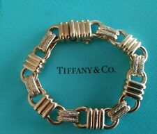 Diamonds Bracelet Amazing Design Italy 62 Gr. Tiffany & Co 18K Gold & 60 Rounds