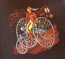 "VTG 1970s Oleg Cassini Wide Neck Tie Bicycle Pattern RETRO 58"""