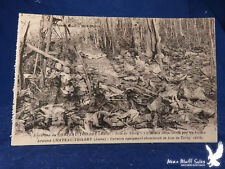 WWI Litho PC Around Chateau Thierry German Equipment Abandoned in Bois de Torcy