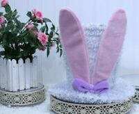 EASTER HAT with Bunny Ears Metal Frame Tabletop Home Decor NEW L-59