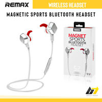 Remax Wireless Headset Bluetooth Handsfree Stereo Earphones For Samsung iPhone