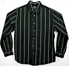 Matix Marc Johnson Mens Shirt Large L/S Button Up Black/White Striped Pro Series