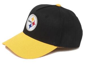NFL Pittsburgh Steelers Snapback Hat Kids Adjustable Curved Bill Black/Yellow