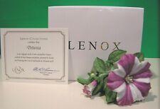 Lenox Petunia Garden Flower sculpture New in Box with Coa