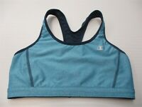 CHAMPION Women's Size S Reversible Navy Blue Running Racerback Sports Bra