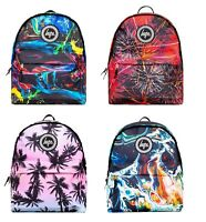 Hype New Backpack Rucksack School Bag Padded Straps Multi Colour Blue Red Yellow