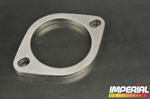 "3in / 76mm UNIVERSAL EXHAUST FLANGE 2 BOLT stainless steel decat custom 3"" inch"