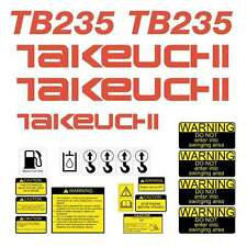 Takeuchi TB235 Decal Kit Mini Excavator repro Decal Set stickers kit