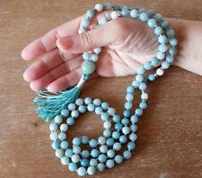 8mm Amazonite Mala Necklace Healing Crystal 108 bead Mala Necklace