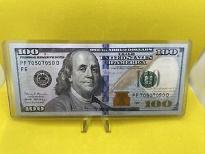 2017A $100 DOLLAR BILL Star Note - Fancy Serial Number Rare 70507050 Repeater