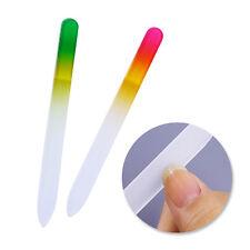 2 Pcs Gradient Nail File Buffer Double-sided Glass Nail Art Tools(Random Colors)