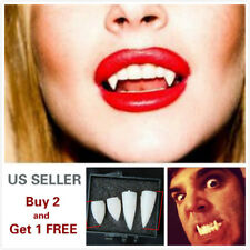 4Pcs Set Zombie Vampire Teeth Halloween Cosplay Ghost Fangs