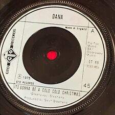 """DANA It's Gonna Be A Cold Cold Christmas 1975 UK 7"""" vinyl single EXCELLENT CONDI"""