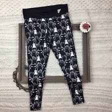 Iron Fist Athletic Newbreed Cat Leggings Black and White Size Large L - F11