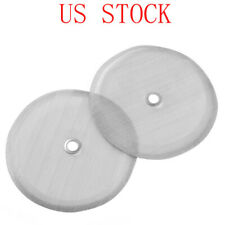 2Pcs Reusable French Coffee Press Replacement Filters Screen with Center Ring US