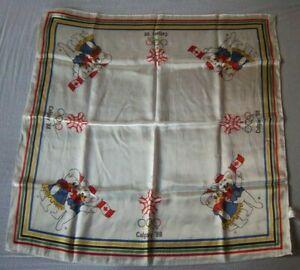 Orig.scarf  Olympic Winter Games CALGARY 1988 - Hidy + Howdy / 69 x 69 cm ! RARE