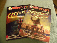 Lot of Robot City Graphic Novels- by Paul Collicutt-City in Peril-Metal Man-EB2