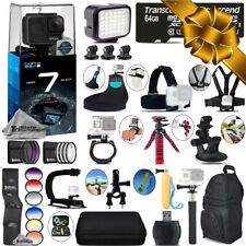 GoPro Hero7 Black Camera + 13PC Filter Kit Set + Backpack-128GB Holiday Gift Kit