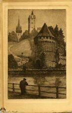 Three Engraved Postcards by P. Matthes and Wengel, Luzern Switzerland