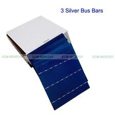 20pc 6x6 Solar Cell Cells 3 Silver Busbars for DIY 80W Panel 4W/Pc Value Pack