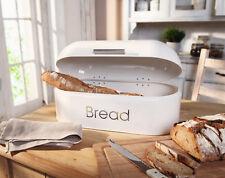 Brotkasten groß Brotdose Dose Vorratsbehälter Metall shabby vintage weiß