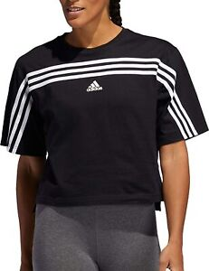 adidas Women's Must Haves Ringer 3-Stripes T-Shirt, Color Options