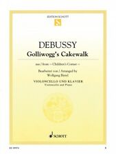 Golliwogg's Cakewalk Cello and Piano Book NEW Schott 049045660