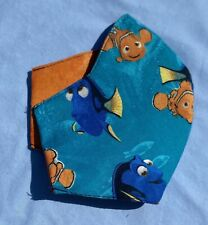 Kids Disney Nemo Dory Face mask Cotton Adjustable Metal Nose Piece Washable Bts